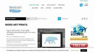 Word art Prints website