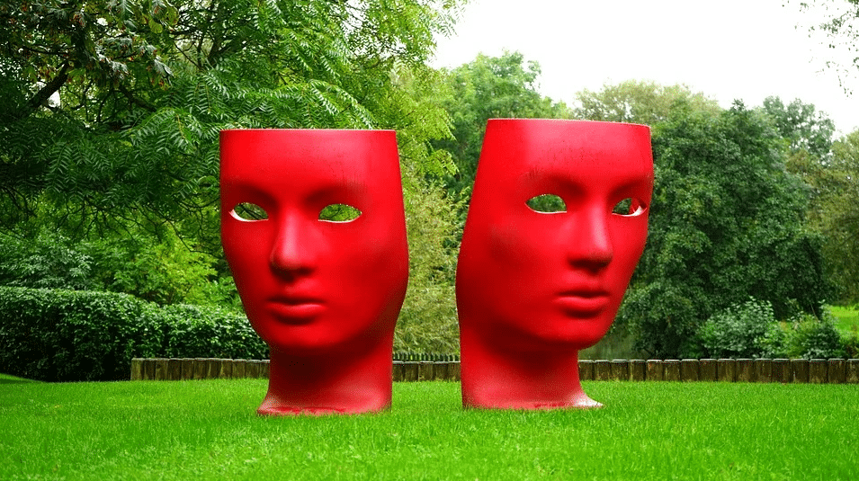 two red masks